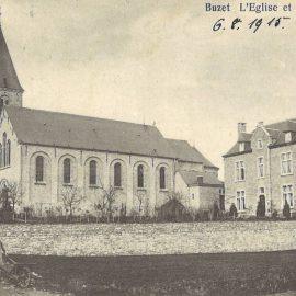 Floreffe – Buzet – rue de Malonne – l'église et le presbytère