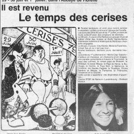 Floreffe – festival le temps des cerises – 1979