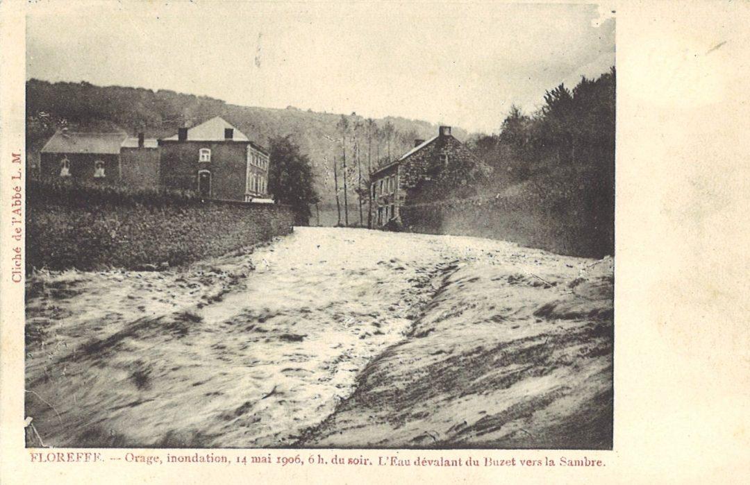 Floreffe – rue du Séminaire – inondations du 14 mai 1906