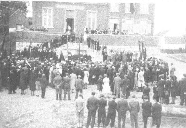 Maison communale de Franière vers 1946 - 1947