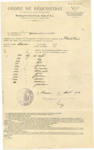 Ordre de réquisition 1914