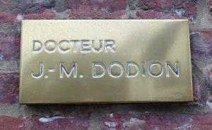 Plaque Docteur Dodion