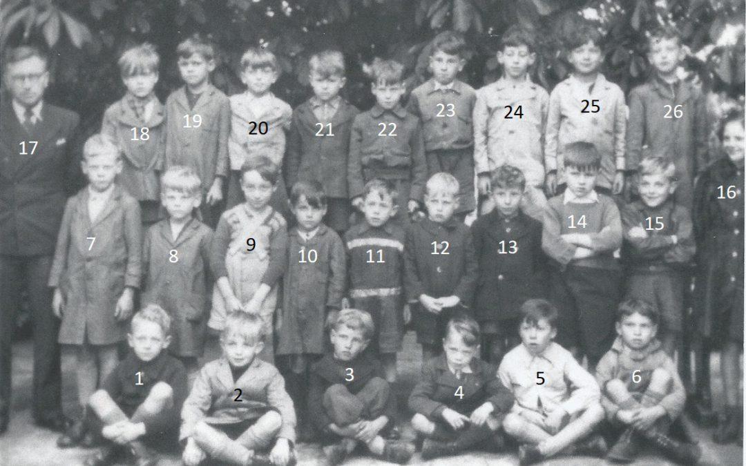 Franière – rue de l'Ecole – école primaire communale – classes de 1945/1946