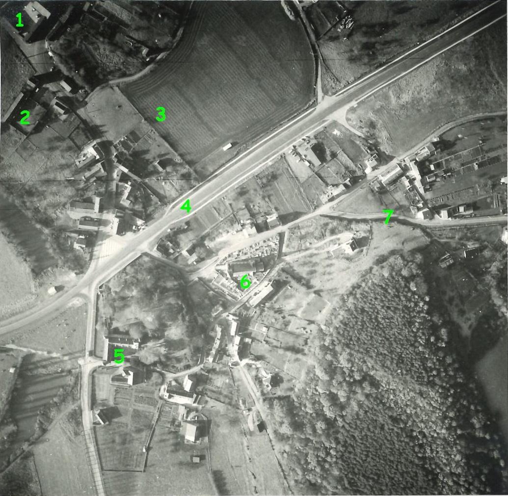 Floriffoux – entre les rues Oscar Gubin et de Frégimont – photo aérienne