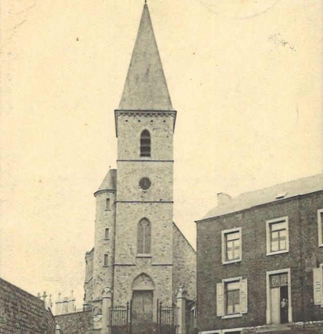 Floriffoux – rue Sainte-Gertrude – église