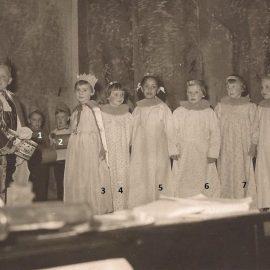 Floreffe – école primaire libre – fête scolaire – fin années 1950 / début années 1960