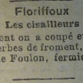 Floriffoux – faits divers de l'année 1920