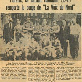 Floreffe – balle pelote – équipe des juniors – années 1960