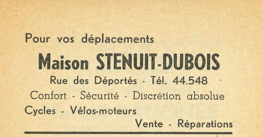 Floreffe – rue des Déportés – marchand de cycles et vélomoteurs Stenuit-Dubois
