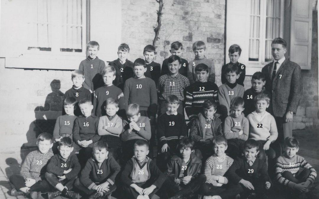 Floriffoux – école primaire communale – classes de 1964