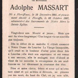 Floreffe – souvenirs mortuaires – les patronymes MASSART