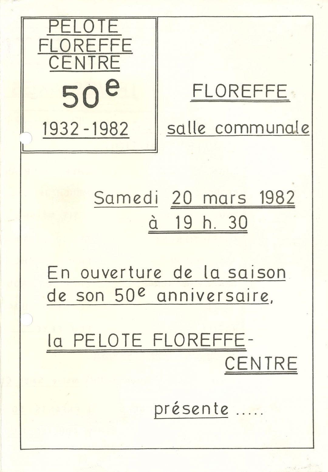 Floreffe – cercle dramatique Renaissance – li p'tit mitan – 1982
