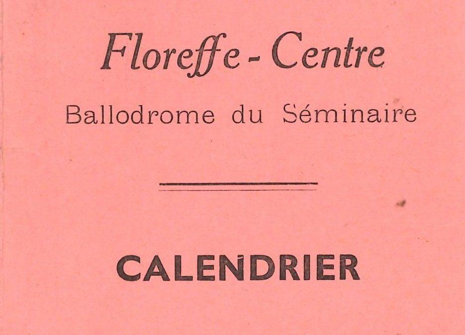Floreffe – balle pelote – calendrier des luttes – 1978