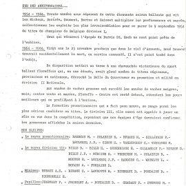 Floreffe – balle pelote – calendrier des luttes – 1984