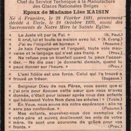 Franière – souvenirs mortuaires – les patronymes ARNOULD