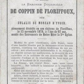 Floriffoux – souvenirs mortuaires – les patronymes de MOREAU D'YVOIR
