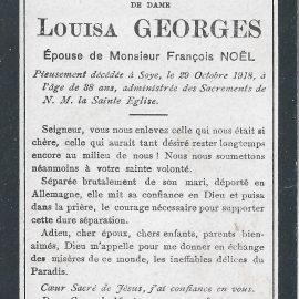 Soye – souvenirs mortuaires – les patronymes GEORGES
