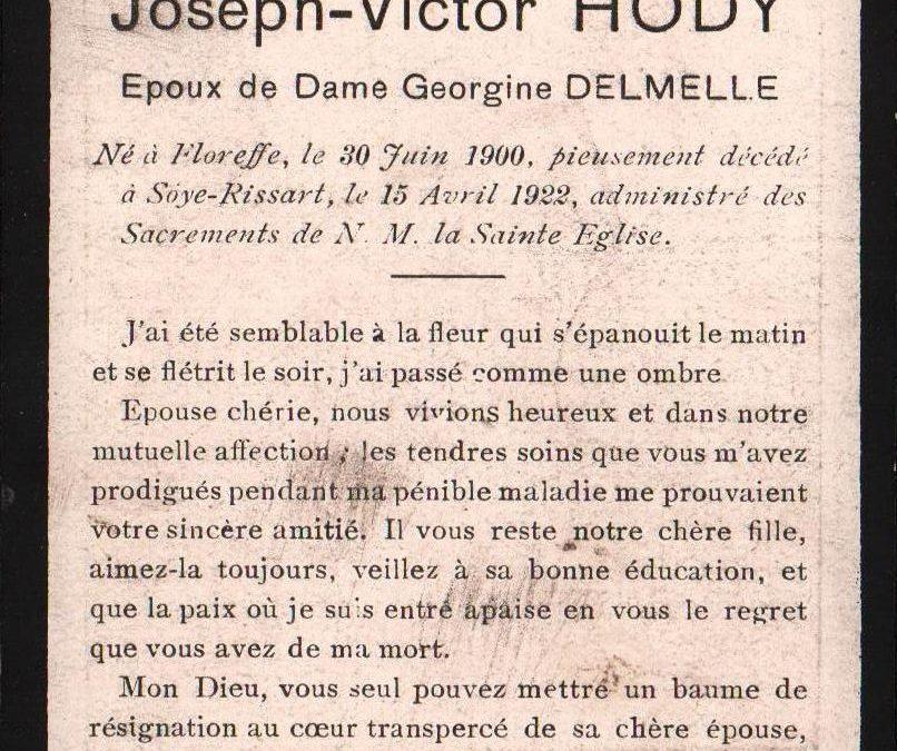 Soye – souvenirs mortuaires – les patronymes HODY