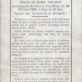 Floriffoux – souvenirs mortuaires – les patronymes LEURQUIN