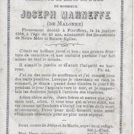 Floriffoux – souvenirs mortuaires – les patronymes MARNEFFE