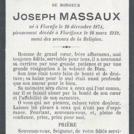 Floriffoux – souvenirs mortuaires – les patronymes MASSAUX