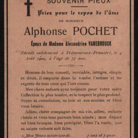 Franière – souvenirs mortuaires – les patronymes POCHET