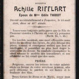 Franière – souvenirs mortuaires – les patronymes RIFFLART