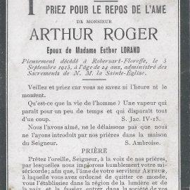 Floreffe – souvenirs mortuaires – les patronymes ROGER