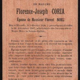 Floreffe – souvenirs mortuaires – les patronymes CORIA