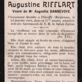 Floreffe – souvenirs mortuaires – les patronymes RIFFLART