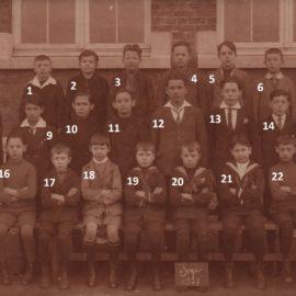 Soye – école communale – photo de classe – année 1927