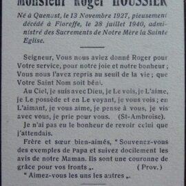 Floreffe – souvenirs mortuaires – les patronymes HOUSSIER