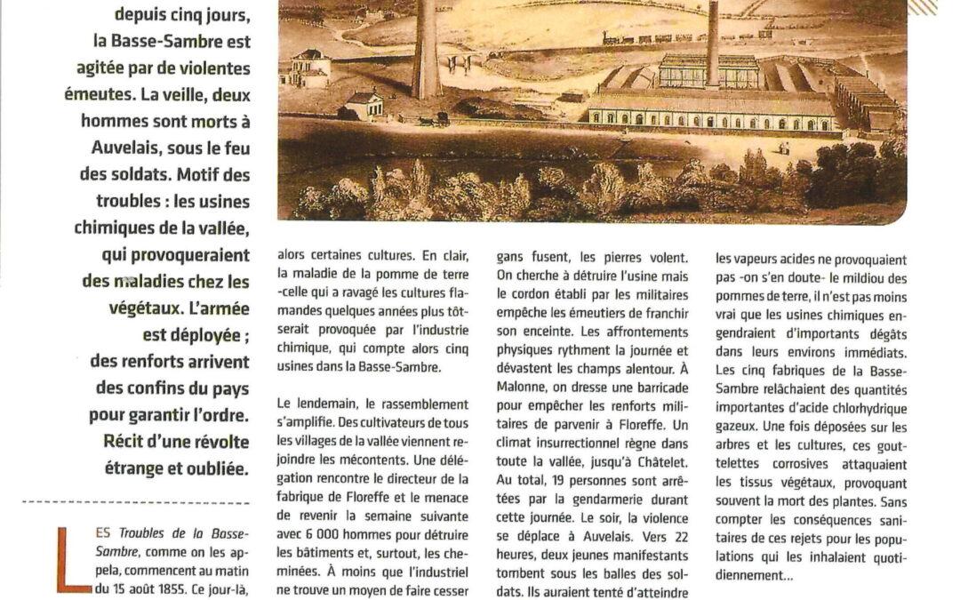 Floreffe – rue Riverre – Glacerie – Quand la Basse Sambre voulait détruire ses usines (polluantes)