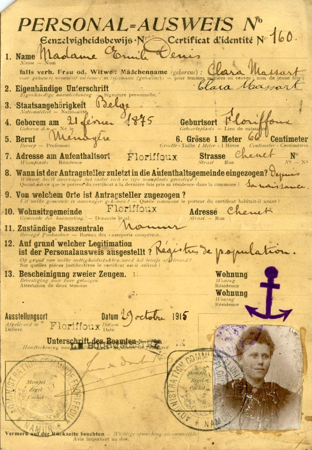 Floriffoux – Ausweis – Clara MASSART