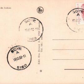 Soye – fermeture du dépôt-relais de poste – 1992