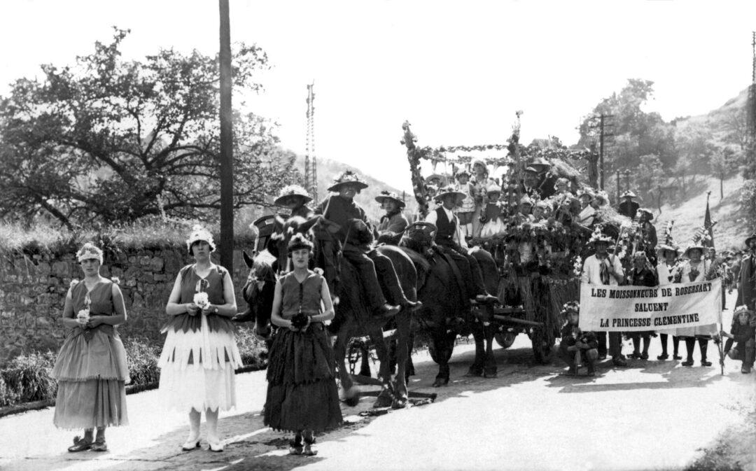 Floreffe – visite de la Princesse Clémentine – 1930