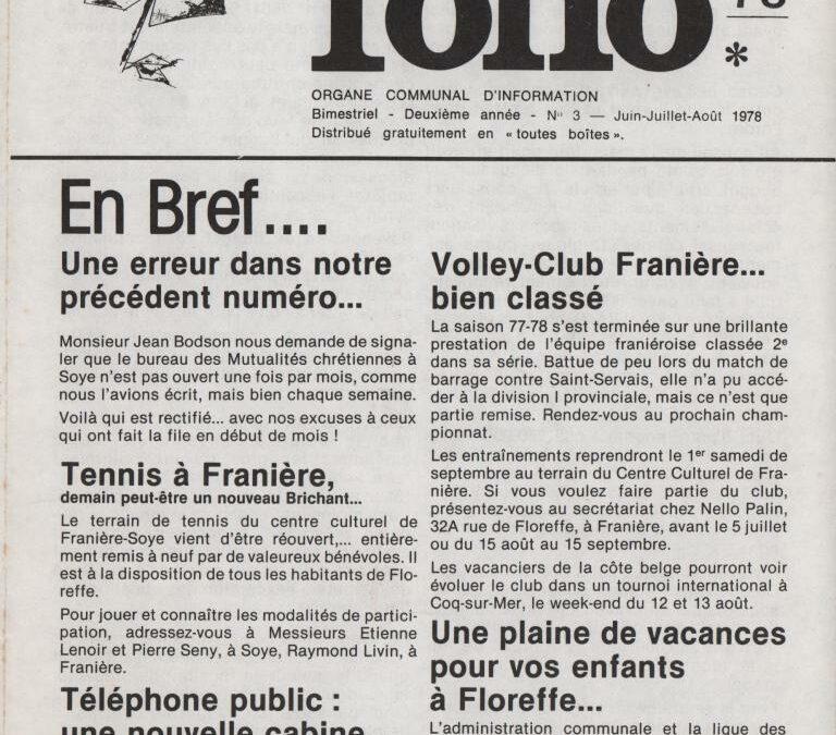 Folio – juin-juillet-août 1978 – n°3