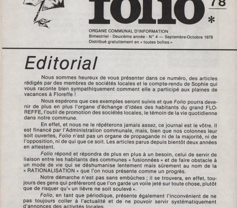 Folio – septembre-octobre 1978 – n°4