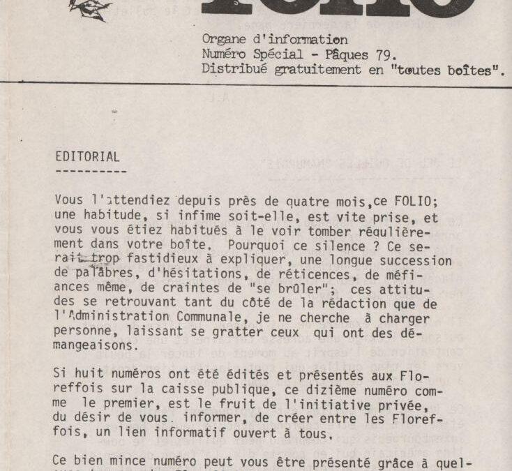 Folio – Pâques 1979
