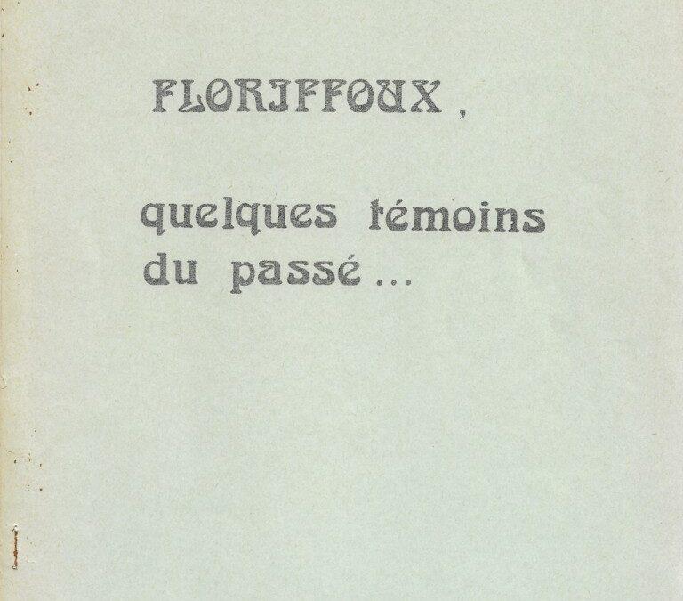 Floriffoux – témoins du passé – documents photographiques – n°2