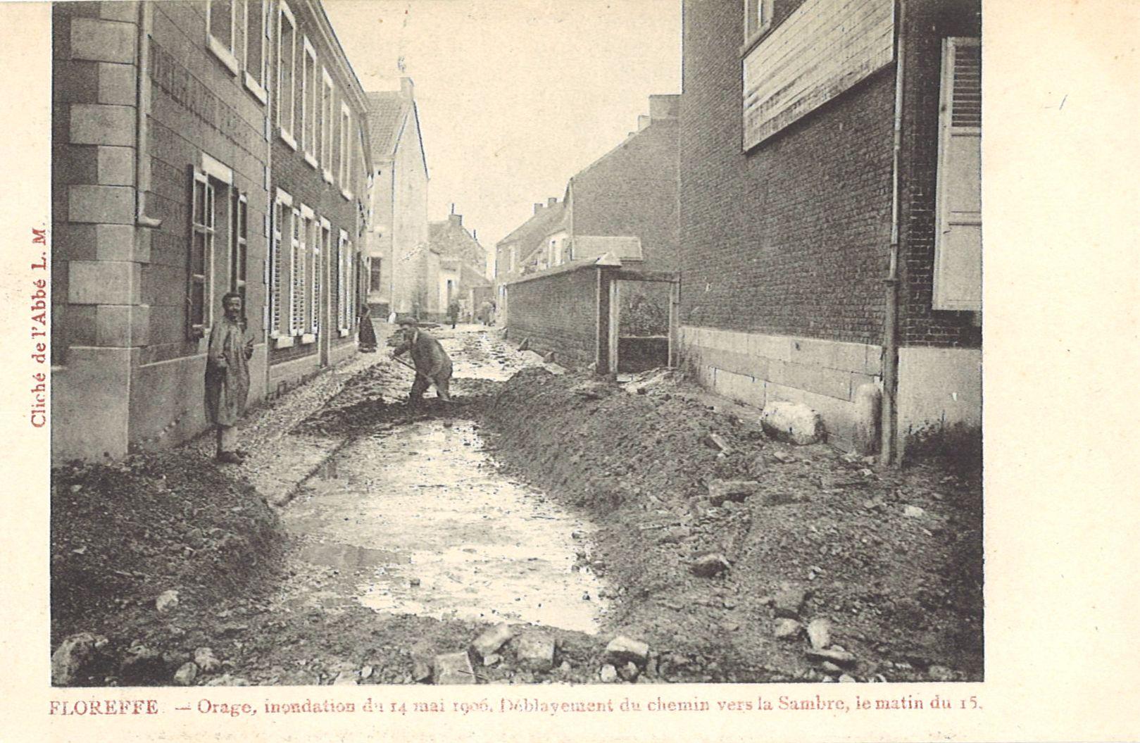 Floreffe – rue des Déportés – inondations du 14 mai 1906