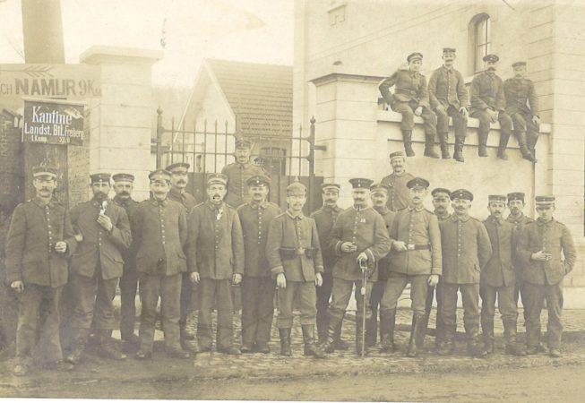 Floreffe - guerre 14-18 - occupation allemande - la gendarmerie - rue Célestin Hastir