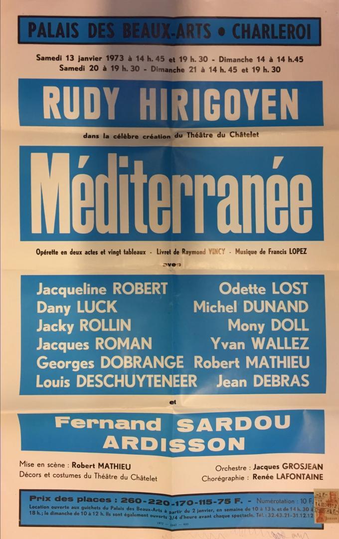 Affiche : Méditerranée
