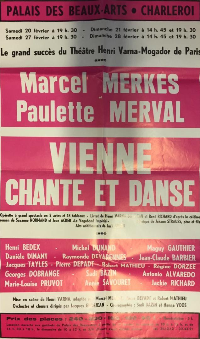 Affiche : Vienne chante et danse