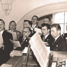 Floreffe – la chorale paroissiale – 1958