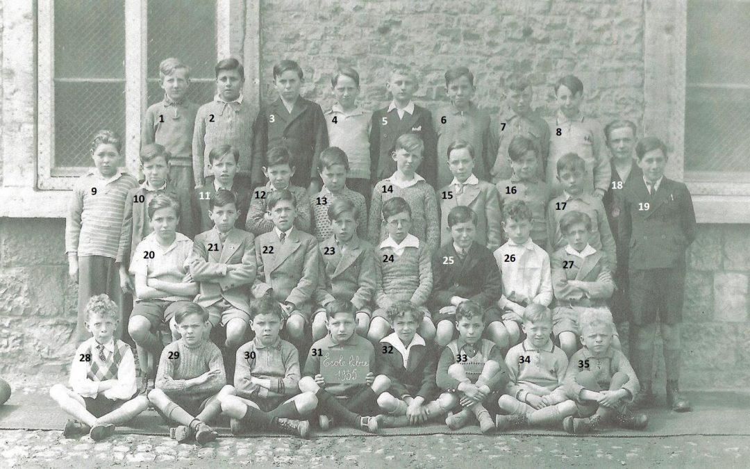 Floreffe – Avenue Charles de Gaulle – école primaire libre – classe de 1935