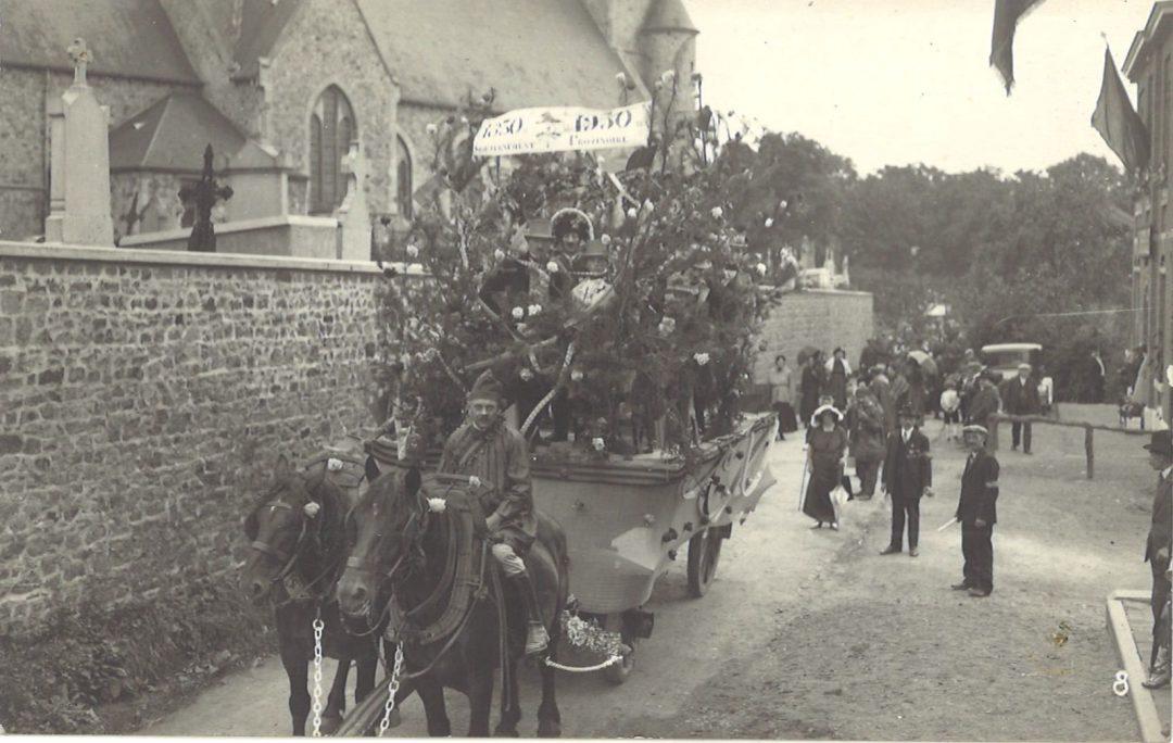 Floriffoux – rue Sainte-Gertrude – fête du centenaire -1930