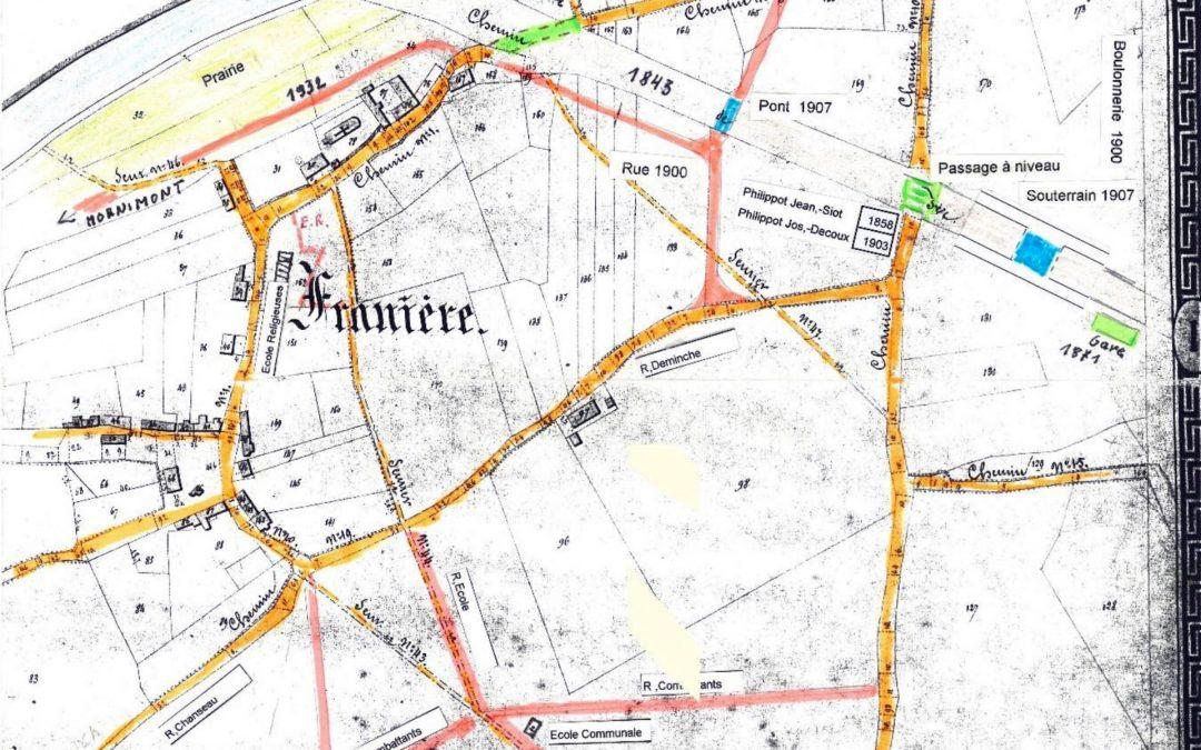Franière – plan partiel du territoire communal