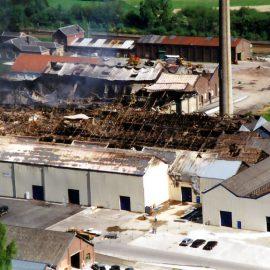 Franière – incendie de la glacerie – 2001