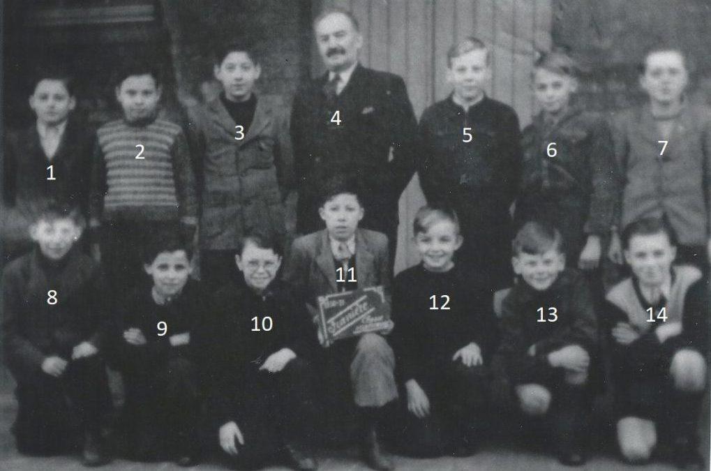 Franière – rue de l'Ecole – école primaire communale – classes de 1950/1951